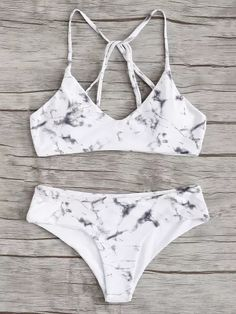 Shop Criss Cross Top With Marble Print Bikini Set online. SheIn offers Criss Cross Top With Marble Print Bikini Set & more to fit your fashionable needs. Bathing Suits For Teens, Summer Bathing Suits, Swimsuits For Teens, Cute Bathing Suits, Women Swimsuits, Cute Bikinis, Cute Swimsuits, Swim Suits Bikinis, Teen Bikinis