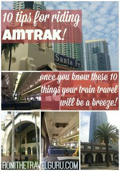 You can travel by train easily and comfortably with these expert travel tips. Traveling by train can be an amazing experience with these 10 travel tips. Ways To Travel, Travel Tips, Travel Packing, Travel Essentials, Cross Country Train Trip, Amtrak Train Travel, Travel By Train, Train Vacations, Top Travel Destinations