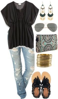 Casual fashion styles for womens - summer 2013 love this shirt! not the jeans though...