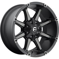 Fuel 1 Piece Coupler Black and Machined with Dark Tint Fuel Rims, 24 Rims, Off Road Parts, Custom Wheels And Tires, Off Road Wheels, Jeep Wheels, Wheel And Tire Packages, Aftermarket Wheels, All Terrain Tyres
