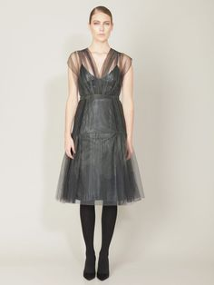 Tulle Pleated Cocktail Dress by Akris on Gilt.com