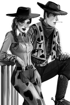 Woody and Jessie from Toy Story