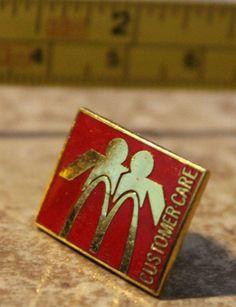 McDonalds Customer Care Employee Collectible Pin Button #McDonalds