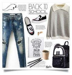 """Back to school"" by yexyka ❤ liked on Polyvore featuring Rachel, Paolo, Skullcandy, Bobbi Brown Cosmetics, BackToSchool, Sheinside and shein"