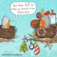 Know someone who is STILL decorating, even on Christmas Eve? Share this funny cartoon with them!