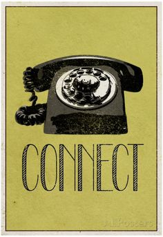 Connect Retro Telephone Player Art Poster Print poster