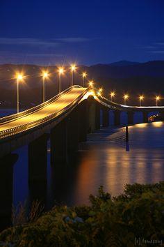Tsunoshima Bridge, Shimonoseki, Yamaguchi, Japan