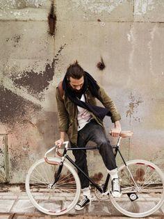 menswear urban cycling