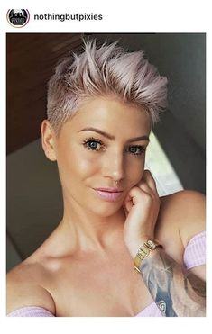 Bob Hairstyles For Thick, Short Pixie Haircuts, Short Hair Cuts, Short Hair Styles, Short Hair Shaved Sides, Pixie Cut With Undercut, Side Cut Hairstyles, Shaved Pixie Cut, Very Short Pixie Cuts