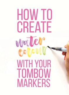Say It Pretty Designs: September 2015 Create watercolors with your Tombows