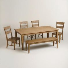 One of my favorite discoveries at WorldMarket.com: Harrow Dining Collection