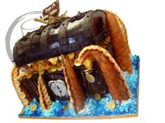 Pirates of the Carribean Treasure Chest Cake