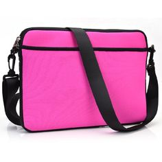 Exxist Universal Messenger Travel Bag Sleeve Case with Shoulder Strap for Asus Transformer Book T100 Chi  Transformer Book T100HA 2in1 Color Pink * You can find more details by visiting the image link.