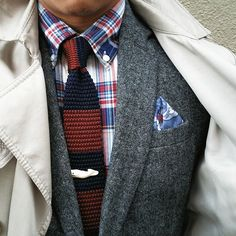 Fall layers. Classic red white and blue. The Darwin pocket square available at madisonpears.com/products/darwin