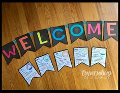 Love this FREE Welcome Banner and Student Response Pennants!  Great for Back to School and Parent Teacher Conference Time!