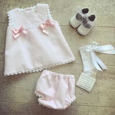 Pretty Originals Pink Bows Dress Frilly Knickers. 3-6m Spanish Baby Girls Outfit    eBay