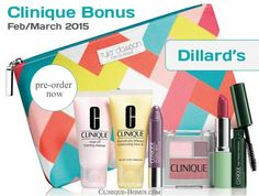 3 days left; Clinique gift at Dillard's starts 2/27/15. http://clinique-bonus.com/dillards/ Gift comes in 2 colors: Violet or Neutral. Which one is you preferred?