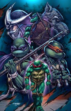 Teenage Mutant Ninja Turtles (by:Emil Cabaltierra/colours by:Omi Remalante Jr. Ninja Turtles Art, Teenage Mutant Ninja Turtles, Comic Books Art, Comic Art, Arte Dc Comics, Marvel, Manga, Anime, Gi Joe