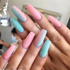 60 Prettiest And Stylish Summer Nail Designs nail art designs, colorful nail art design summernails nailart manicure is part of nails - nails Summer Acrylic Nails, Best Acrylic Nails, Pastel Nails, Coffin Nails Designs Summer, Coffin Nail Designs, Holiday Acrylic Nails, Pastel Pink Nails, Colored Acrylic Nails, Acrylic Nail Art