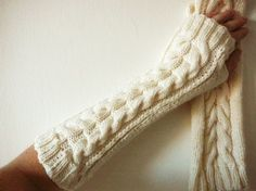 Items similar to IMBROGLIA long arm warmers cream on Etsy Girly Things, Girly Stuff, Scarf Hat, Handmade Clothes, Leg Warmers, Fingerless Gloves, Clothes For Women, Women's Clothes, Gifts For Her