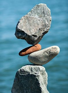 By Bill Dan, master of rock balancing. So zen. I really love doing this... but it takes patience on everyone else's part that is with me to wait for me to done.