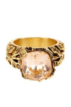 Blush stone ring