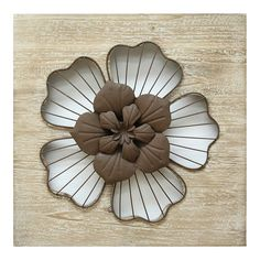 Stratton Home Decor Rustic Large Flower Metal Wall