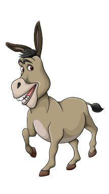 Heres a donkey you might know to colourin To meet the magical