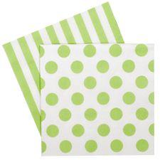 Green Stripe & Spot Napkins $5.95