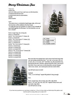 A free crochet pattern for this lovely decoratad christmas tree! Unusual Christmas Trees, Cute Christmas Tree, Crochet Christmas Trees, Christmas Tree Pattern, Holiday Crochet, Christmas Knitting, Xmas Tree, Christmas Crafts, Merry Christmas