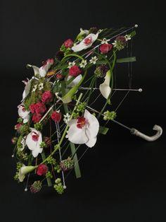 Umbrella - floral design ~ Floral Designer Annette von Einem, Copenhagen [2013]