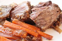 CROCK-POT ROAST BEEF DINNER- This crock-pot wonder is SO delicious!!! Who doesn't love to wake up, throw ingredients into one pot and be done for the day! thefoodnanny.com
