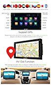 Pumpkin 6.95″ Android 5.1 Lollipop Quad Core 2 Din Car Stereo DVD Player In Dash Touchscreen GPS Head Unit Bluetooth Radio Receiver Support SWC 3G Wifi OBD2 Mirror-link with Backup Camera