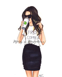 First Coffee by Melsys on Etsy