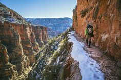 Winter offers an epic natural stage to complete a Grand Canyon Rim-to-Rim-to-Rim backpacking trip. Here's how...