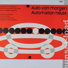 Plakat Automobilia Ausstellung Auto von Morgen 1960 Ford Werke Köln
