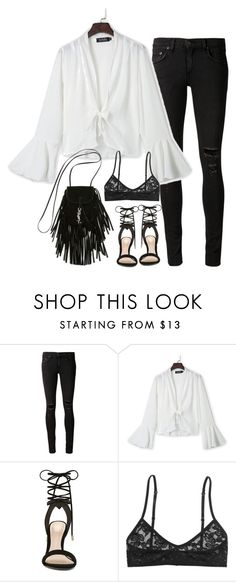 """""""Untitled#4345"""" by fashionnfacts ❤ liked on Polyvore featuring rag & bone/JEAN, WithChic, ALDO, Monki and Yves Saint Laurent"""