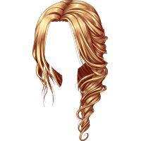 Side hair ondulado rubio