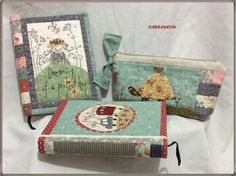 Annie Downs, Composition Notebook Covers, Japanese Patchwork, Love Sewing, Fabric Scraps, Hand Embroidery, Applique, Decorative Boxes, Gift Wrapping