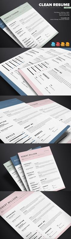 Clean Resume Template Vol.2 #teacherresume #cleanresumetemplate #cleanresume #creativeresume #BestResumeFormat #resumewriting #resumeideas #ResumeTemplate #photoresume #reference #jobsearch #professional #minimal #CvTemplate #cvdesign #coverletterresume #cvexamples #2pageresume #chart Stationery Printing, Stationery Templates, Stationery Design, Resume Templates, Creative Cv Template, Simple Resume Template, Resume Help, Resume Writing, Resume Design