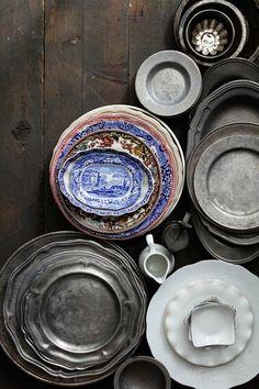 plates and bowls  http://browndresswithwhitedots.tumblr.com/post/41351574544