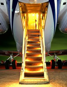 Personal jet, waiting for you.
