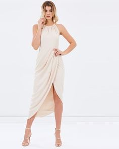 Buy Core High-Neck Ruched Dress by Shona Joy online at THE ICONIC. Free and fast delivery to Australia and New Zealand.
