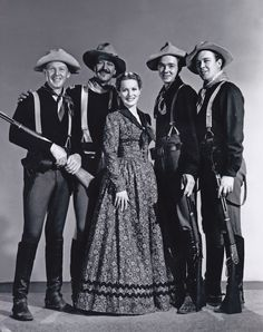 From Rio Grande (1950) with Harry Carey, Jr., John Wayne, Claude Jarman, Jr., Ben Johnson & Maureen O'Hara.