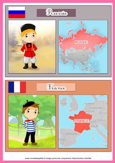 Apprendre les pays du monde aux enfants Around The World Theme, Kids Around The World, Around The Worlds, Music Lessons For Kids, World Thinking Day, Home Schooling, English Lessons, Colorful Pictures, Preschool Activities