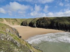 Top 10 'secret' beaches in Wales. Porth Iago and Porth Ferin, near Aberdaron, Gwynedd British Beaches, Uk Beaches, Wales Beach, Wales Holiday, Seaside Garden, Visit Uk, Secluded Beach, Grain Of Sand, Family Days Out