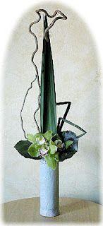 tall ikebana arrangement