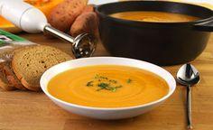 מתכון למרק כתום מחמם ומחזק, מרק עם גזר, בטטה, דלעת וג'ינג'ר. מרק כתום בריא ודיאטטי, עם 177 קלוריות למנה בלבד