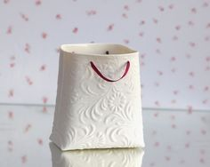Porcelain textured bag (medium container). Designed by Wapa Studio.. $44.00, via Etsy.