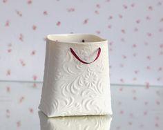 Porcelain textured bag (medium container). Designed by Wapa Studio.. $44.00, via Etsy.